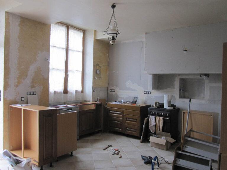 Installation du mobilier de la cuisine