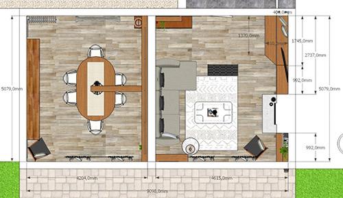exemple de plan 2D en vue de dessus que nous produisons pour nos clients.