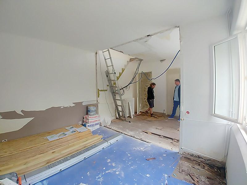Le chantier après le travail de décloisonnement.