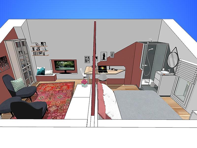 modelisation 3D chambre combles