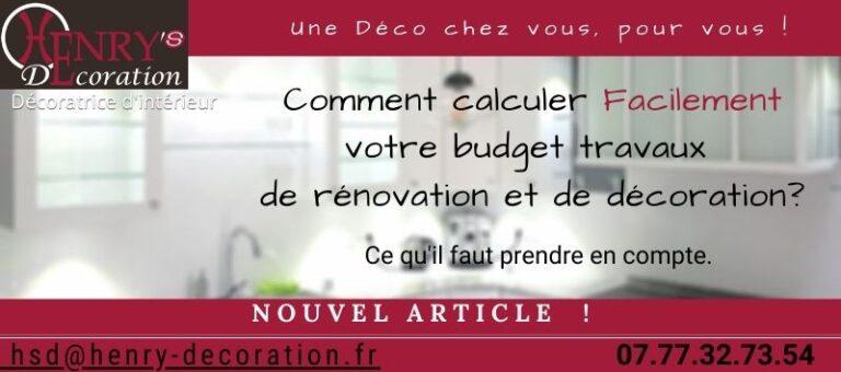 Comment calculer un budget rénovation et décoration facilement ?
