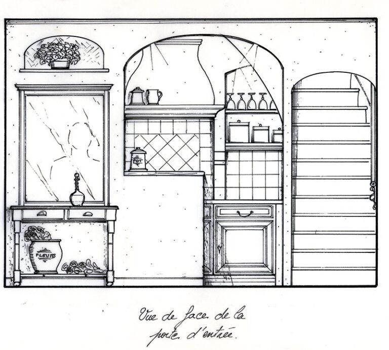 Plan de l'accès à la nouvelle cuisine.