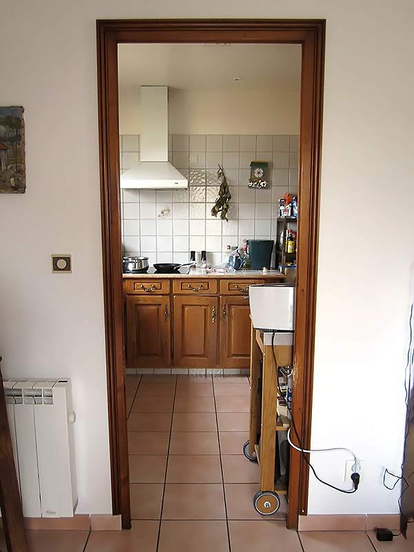 l'anicien accès à la cuisine avant les travaux.