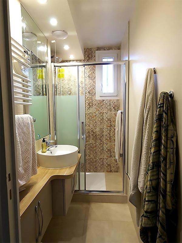 La nouvelle salle de douche.